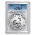 Certified 2018 South Africa 1 oz Silver Krugerrand MS70 PCGS First Week Struck