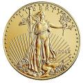 Burnished American $50 Gold Eagle 2019-W in Capsule