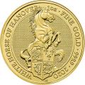 2020 1 oz British Gold Coin Queen's Beast The White Horse of Hanover (BU)
