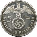 Germany Third Reich 5 reichsmark 1936-1939 VF-AU KM94