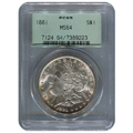 Certified Morgan Silver Dollar 1881 MS64 PCGS