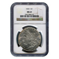 Certified Morgan Silver Dollar 1883 MS64 NGC