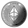 1 oz Silver Bullion Cryptocurrency Ethereum Round .999 fine