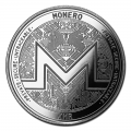 1 oz Silver Bullion Cryptocurrency Monero Round .999 fine