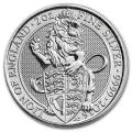 2016 2 oz British Silver Queen's Beast Lion Coin (BU)