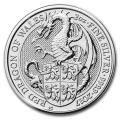 2017 2 oz British Silver Queen's Beast Dragon Coin (BU)