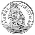 Christmas 2016 Silver Round X-6 Santa On The Beach