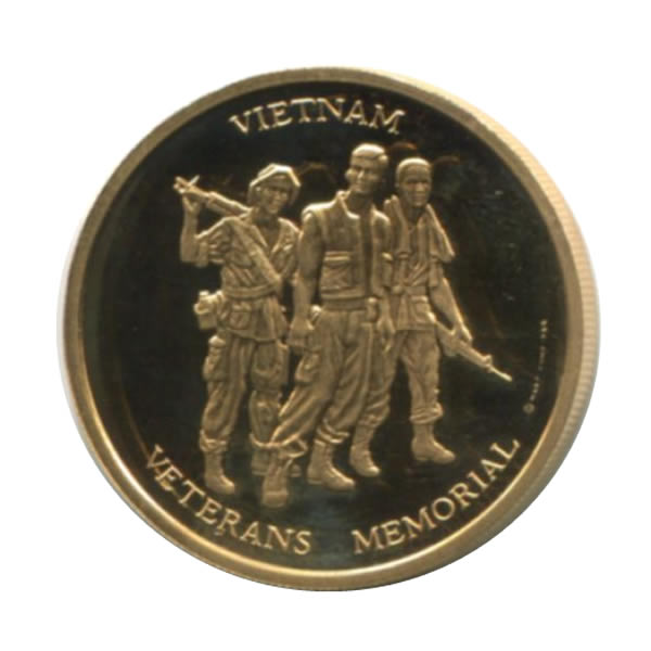 Vietnam Veterans Memorial 1 2 Oz Gold Pf Medal 1984