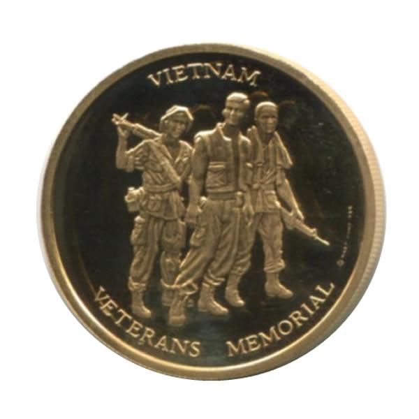 Vietnam Veterans Memorial 1 2 Oz Gold Pf Medal 1984