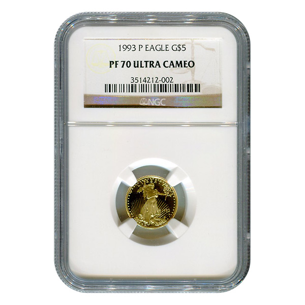 Tenth Ounce Certified Proof Gold Eagles Golden Eagle Coins
