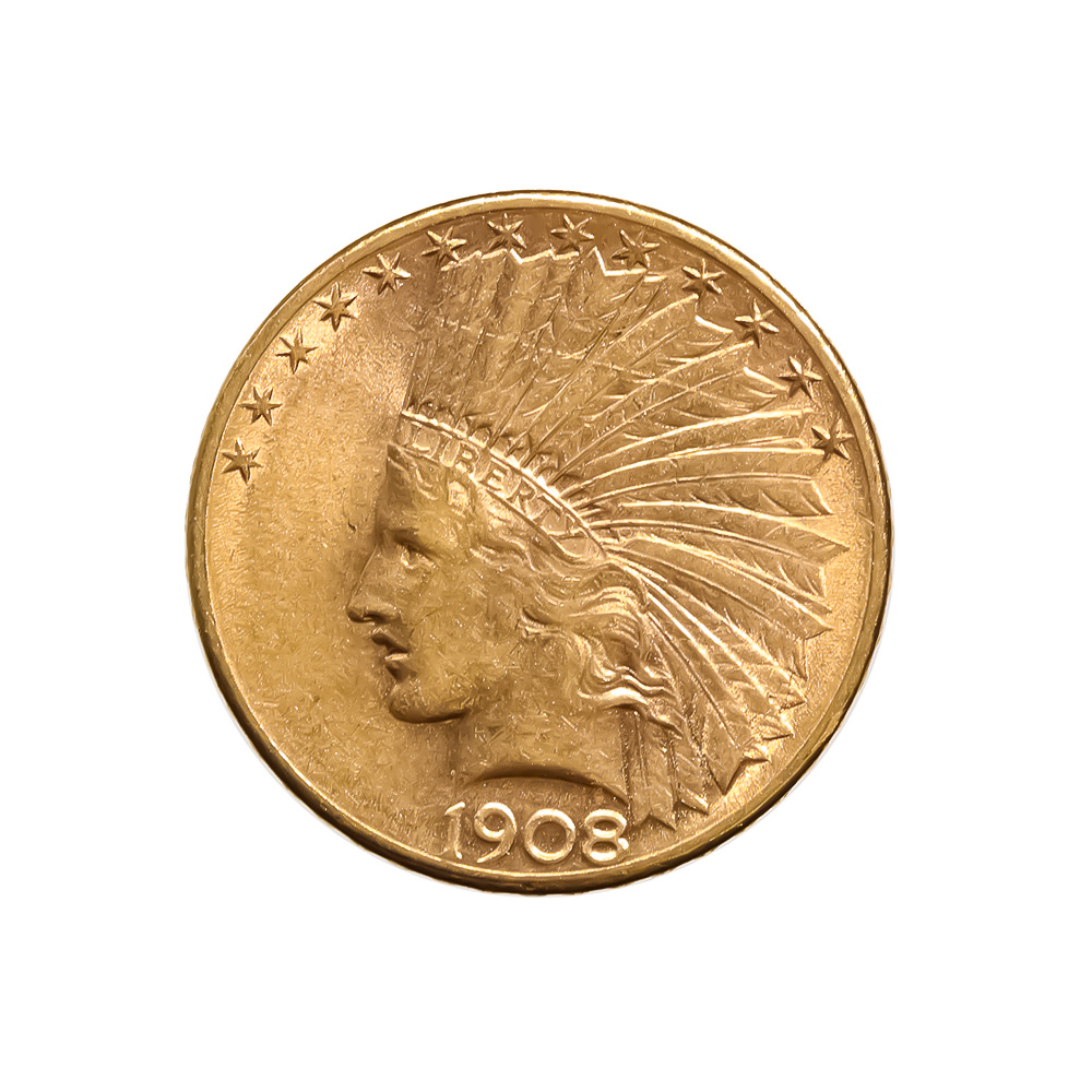 10 Indian Gold Coins Golden Eagle Coins