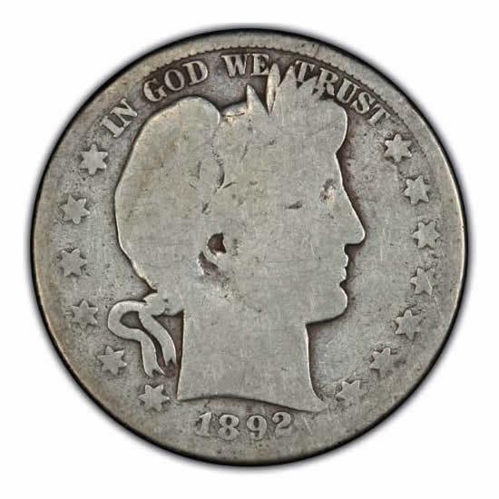 Barber Half Dollars About Good Key Dates | Golden Eagle Coins