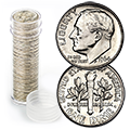 Uncirculated Roosevelt Dime Rolls