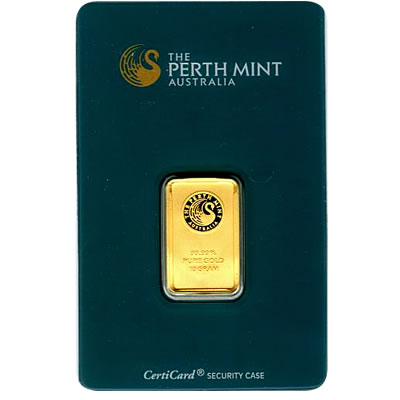Perth Mint 10 Gram Gold Bar Golden Eagle Coins