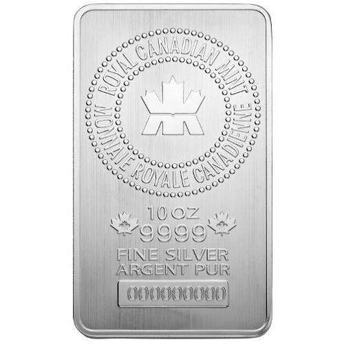 Royal Canadian Mint 10 Oz Silver Bar Golden Eagle Coins