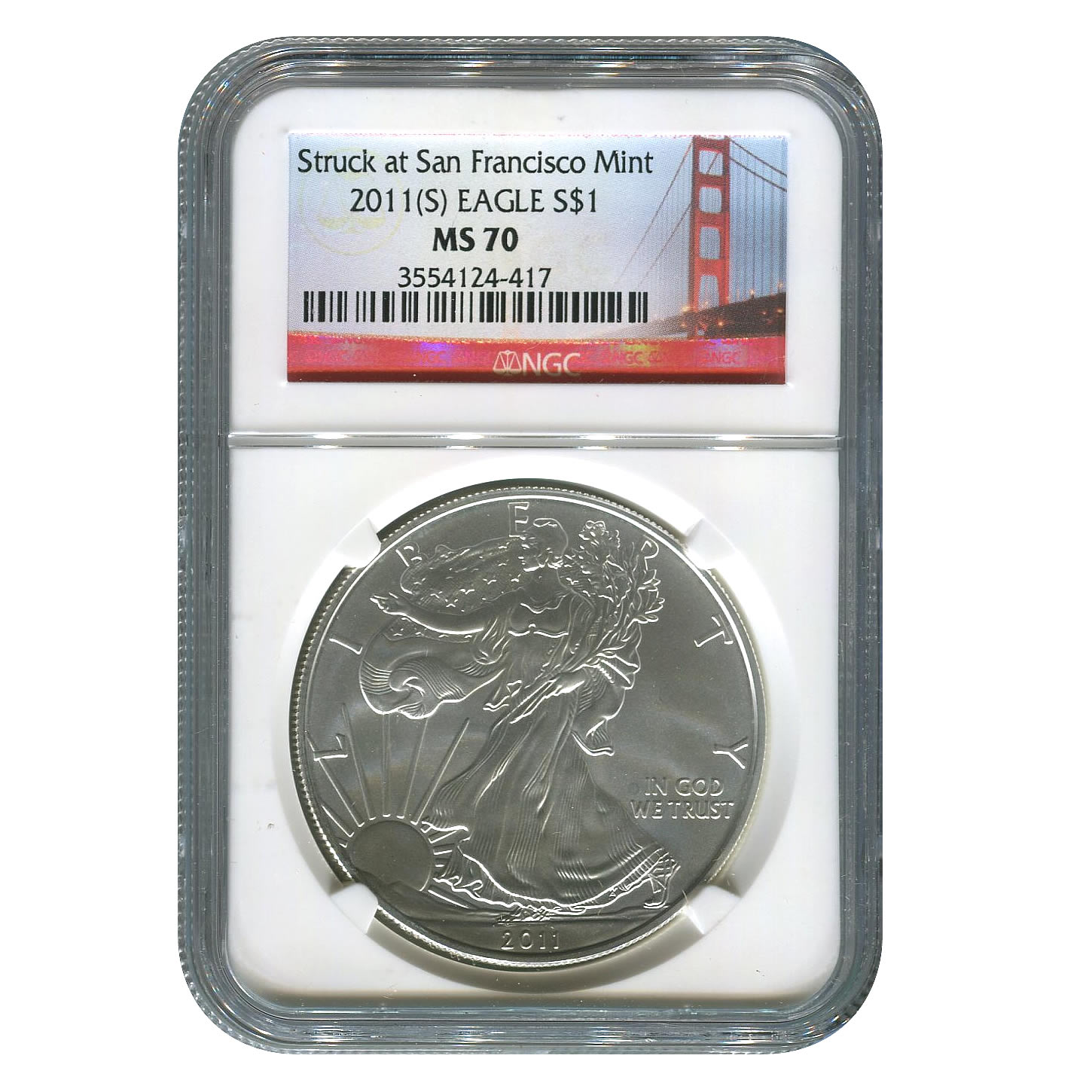 Certified Uncirculated Silver Eagle 2011 San Francisco