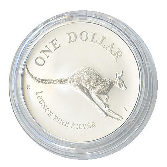 Silver 2002 Australian Kangaroo 1 oz