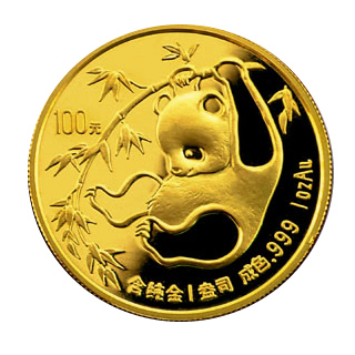 Chinese Gold Panda 1 Ounce 1985 Golden Eagle Coins