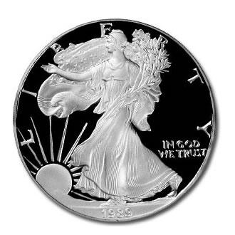 Proof silver eagle 1989 s golden eagle coins