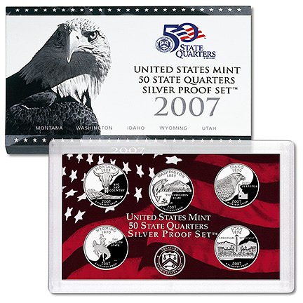 US Proof Set 2007 5pc Silver (Quarters Only)