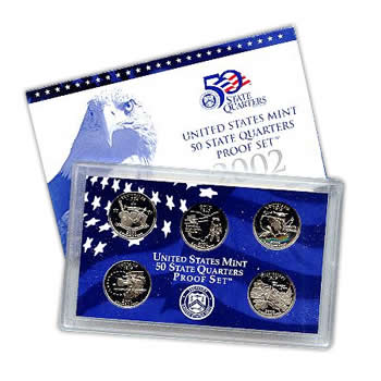 US Proof Set 2002 5pc (Quarters Only)