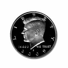 2009 S 50c Kennedy Silver Half Dollar US Coin Choice Proof