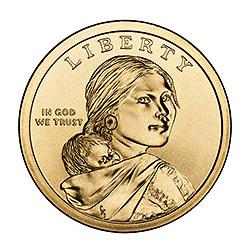 Sacagawea Dollar 2010 P Bu Golden Eagle Coins