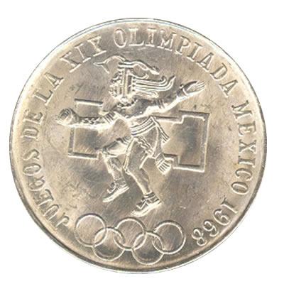 Mexico 25 Pesos 1968 Olympics Golden Eagle Coins