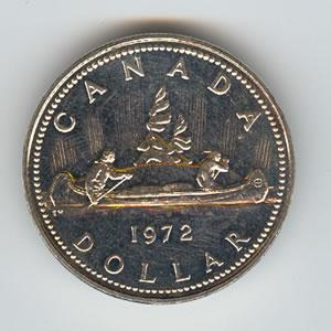 Canada 1972 Silver Dollar Voyageur Golden Eagle Coins