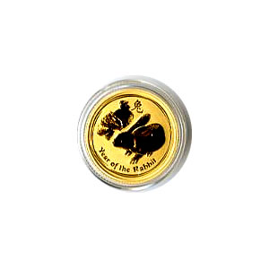 Australian Series II Lunar Gold Tenth Ounce 2011 Rabbit