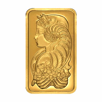 Pamp Suisse 100 Gram Gold Bar Fortuna Design Golden