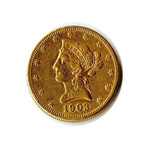 Early Gold Bullion 10 Liberty Jewelry Grade Golden