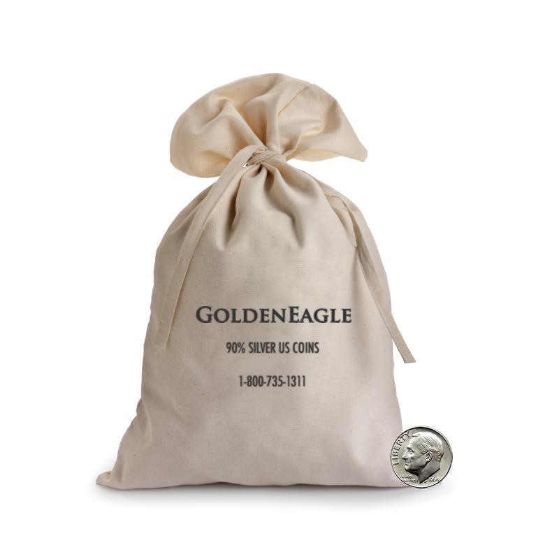 90 Silver Bag Roosevelt Dimes 1000 Face 10000 Pcs
