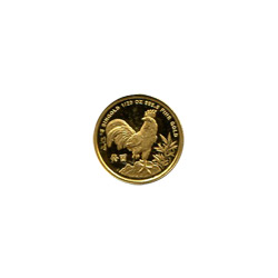Singapore Gold 20th Ounce 1993 Rooster