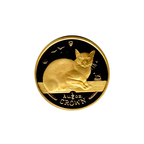 Isle Of Man Gold Cat Fifth Ounce 1996 Golden Eagle Coins
