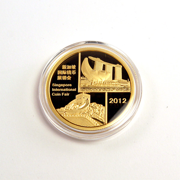 Chinese Gold Panda Half Ounce 2012 Singapore