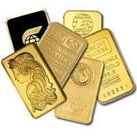One Ounce Gold Bar Random