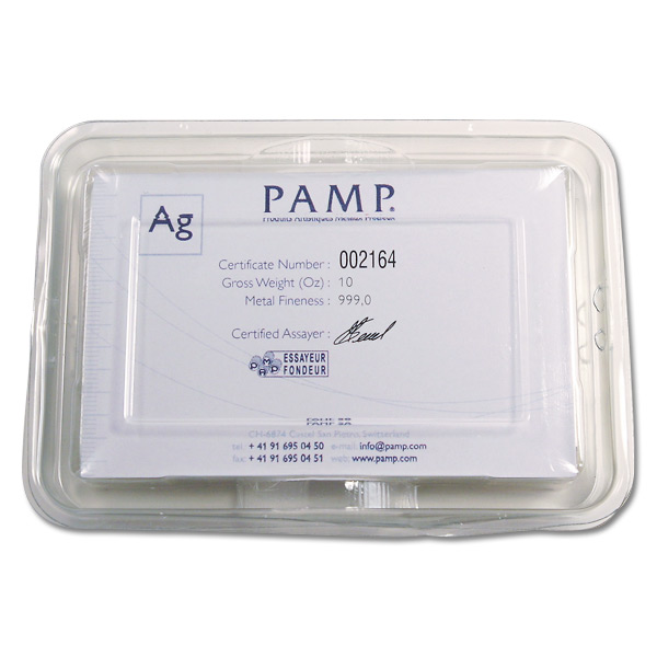 Pamp Suisse Silver Bar 10 Oz Fortuna Design Golden