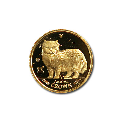 Isle Of Man Gold Cat Tenth Ounce 1989 Golden Eagle Coins