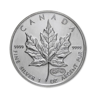 1999 2000 Silver Maple Leaf 1 Oz Uncirculated Dual Date