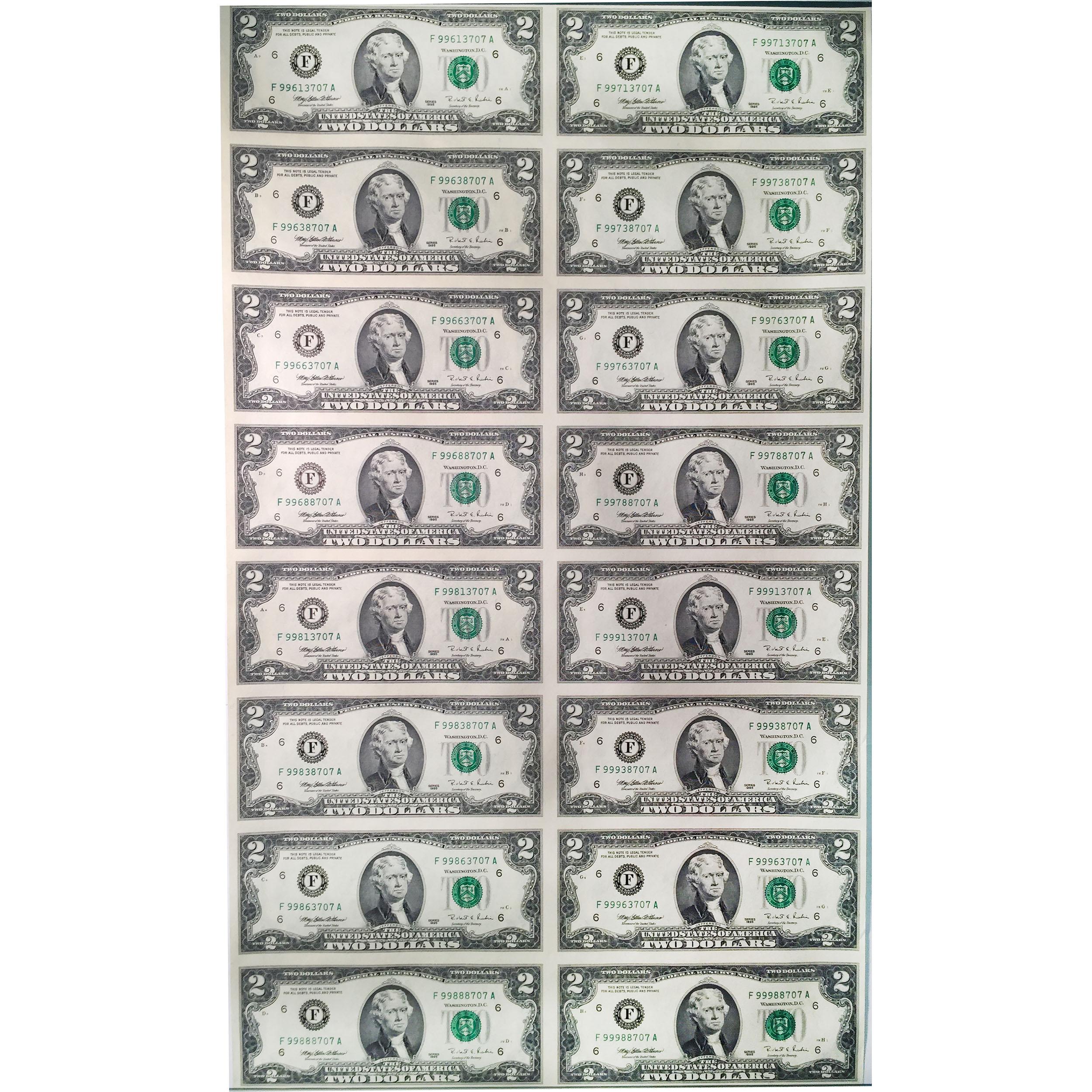 uncut currency sheet     unc golden eagle coins