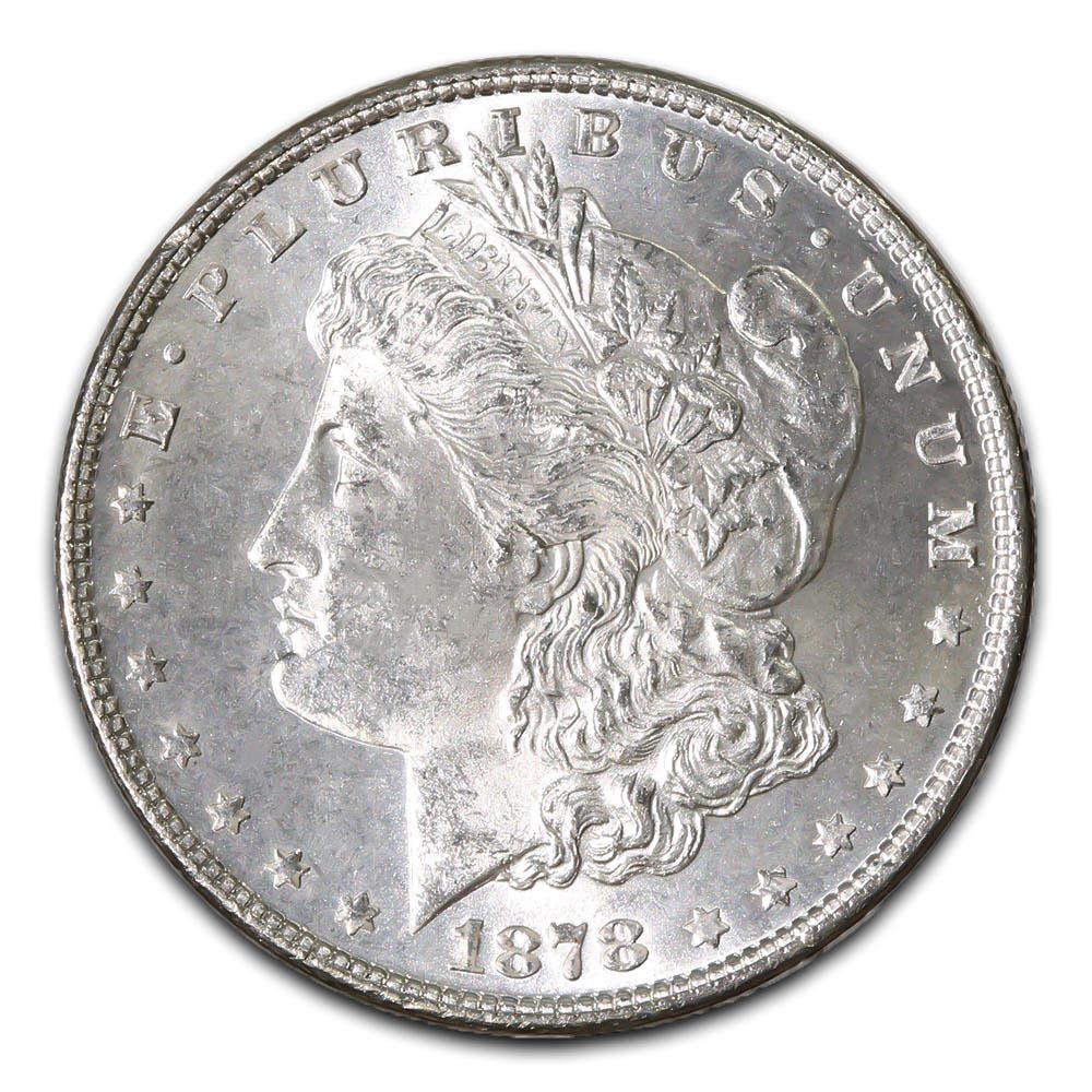 Morgan Silver Dollar Uncirculated 1878 Cc Golden Eagle Coins