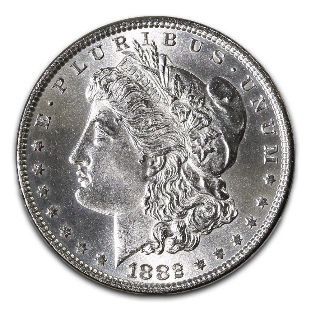 Morgan Silver Dollar Uncirculated 1882 Cc Golden Eagle Coins