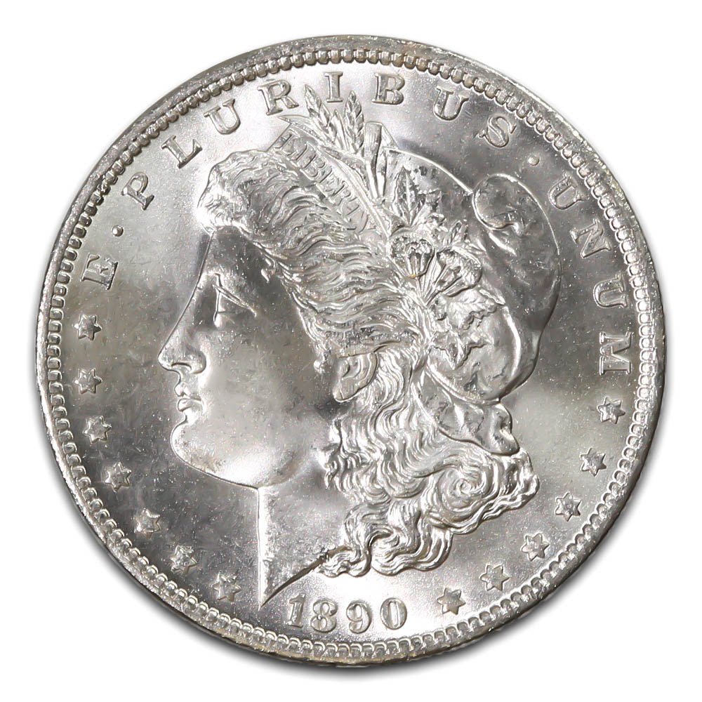 Morgan Silver Dollar Uncirculated 1890 S Golden Eagle Coins
