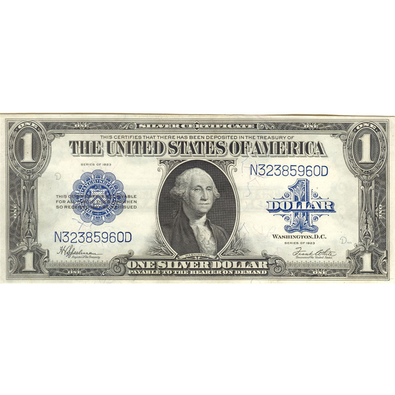 1923 $1 large size silver certificate XF   Golden Eagle Coins