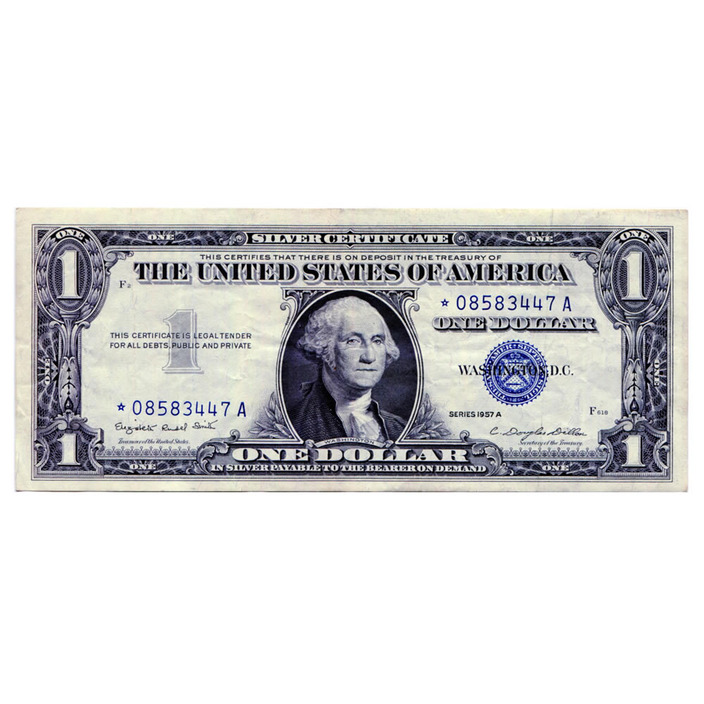 1957a 1 Star Silver Certificate Xf Au Golden Eagle Coins