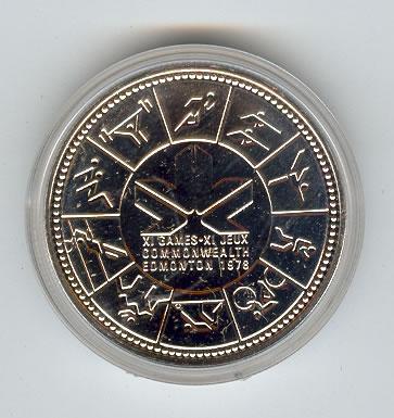 canada  silver dollar commonwealth games golden eagle coins