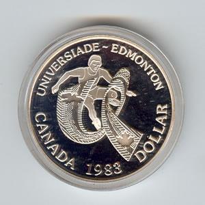 Canada 1983 Silver Dollar Edmonton Games Golden Eagle Coins