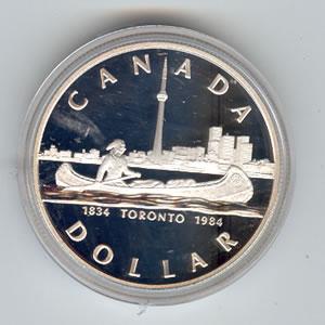 Canada 1984 Silver Dollar Toronto Golden Eagle Coins