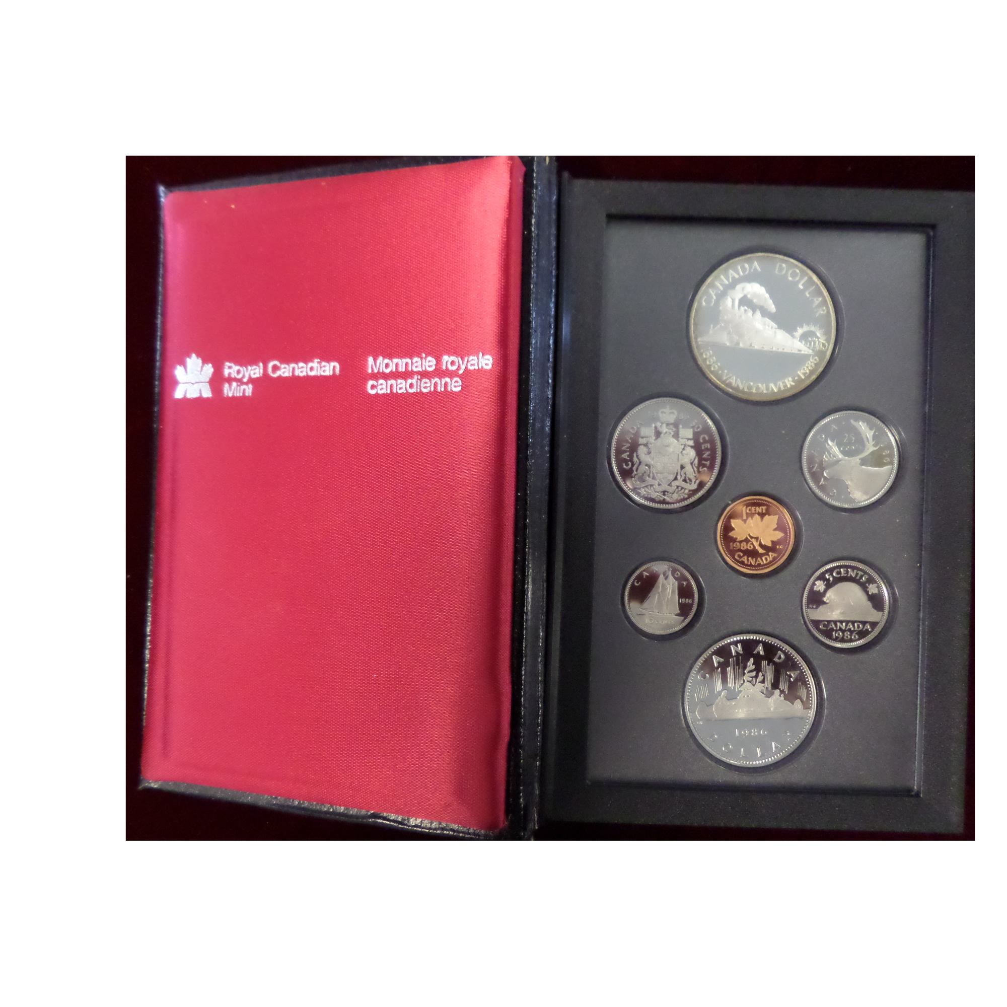 Canada 1986 Proof Set Vancouver Golden Eagle Coins